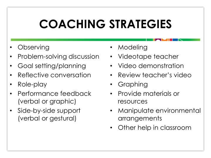 Coaching Strategies