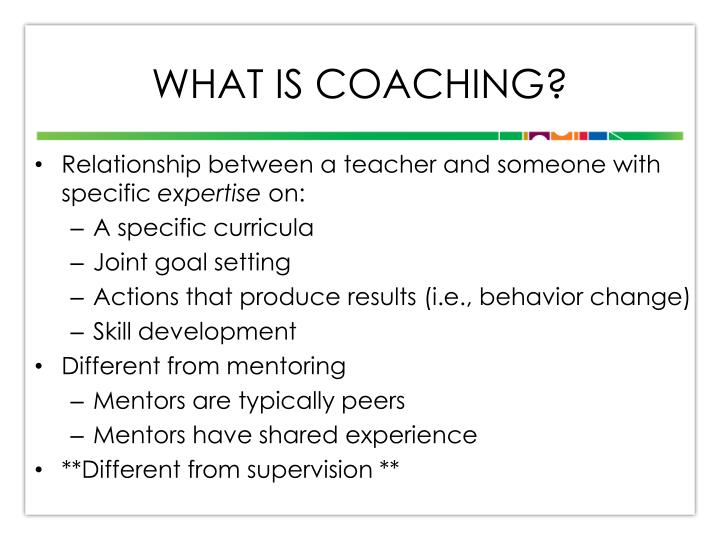 What is Coaching?