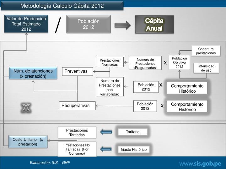 Metodología Calculo Cápita 2012