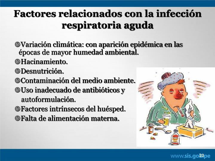 Factores relacionados con la infección