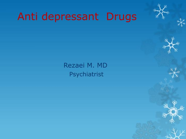anti depressant drugs n.