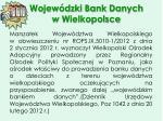 wojew dzki bank danych w wielkopolsce