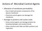 actions of microbial control agents