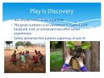 play is discovery