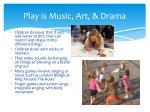 play is music art drama