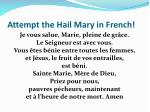 attempt the hail mary in french