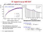 d signal in p p 200 gev