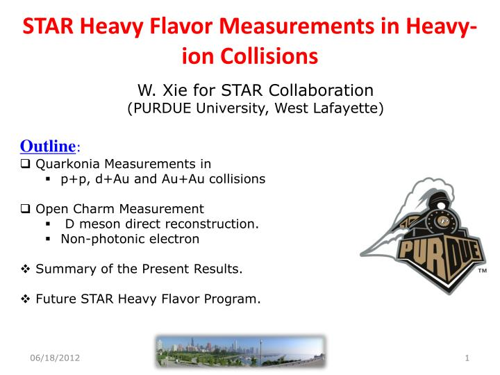 star heavy flavor measurements in heavy ion collisions n.
