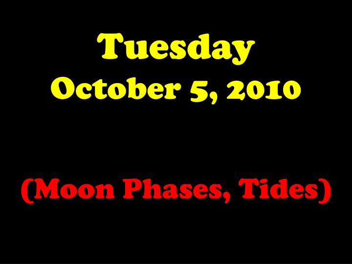 tuesday october 5 2010 n.