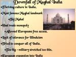 downfall of mughal india
