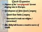 dutch expansion