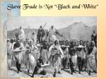slave trade is not black and white