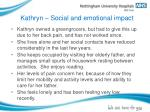 kathryn social and emotional impact