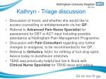 kathryn triage discussion