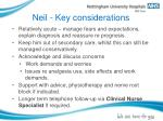 neil key considerations