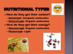 nutritional types