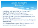 level 3 residents blue jays