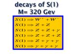 decays of s 1 m 320 gev