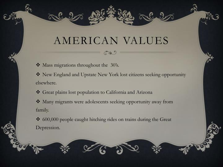 American values1