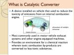 what is catalytic converter