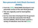 non pneumatic anti shock garment nasg
