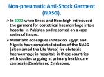 non pneumatic anti shock garment nasg1