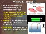 moving electrons