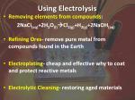 using electrolysis