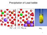 precipitation of lead iodide