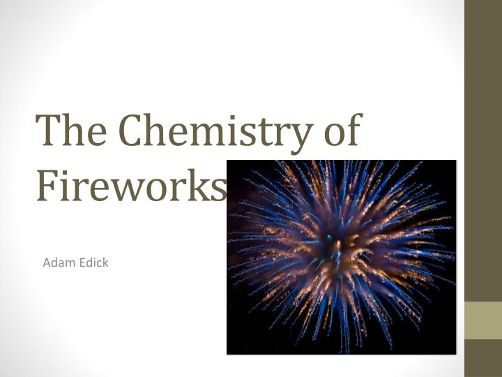 the chemistry of fireworks n.