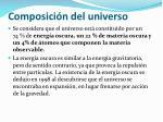 composici n del universo