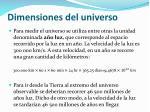 dimensiones del universo