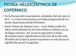 teor a helioc ntrica de cop rnico