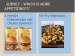 survey which is more appetizing