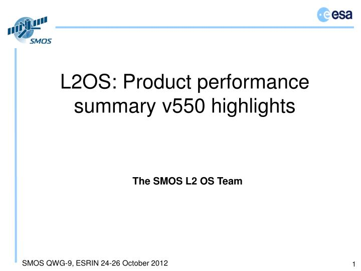 l2os product performance summary v550 highlights n.
