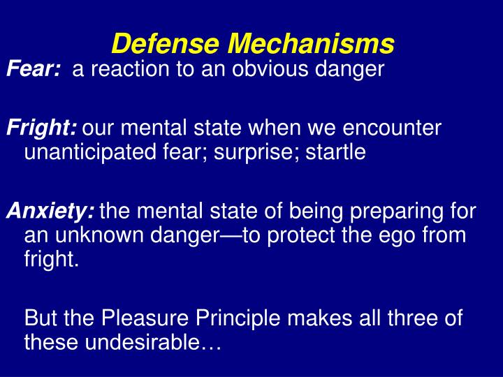 defense mechanisms n.