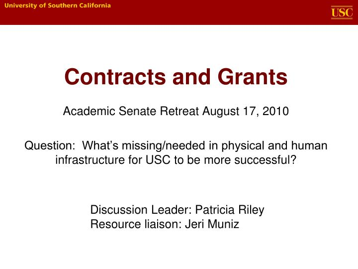 contracts and grants n.