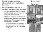 attacking germany