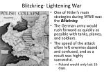 blitzkrieg lightening war