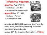hiroshima nagasaki v j day