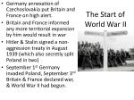 the start of world war ii