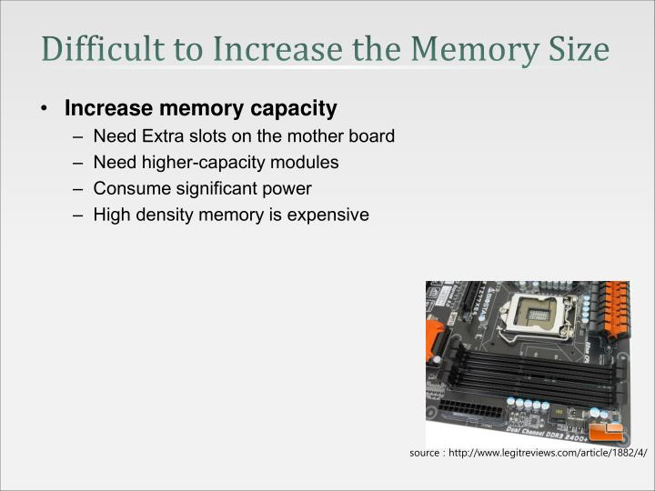 Difficult to Increase the Memory Size