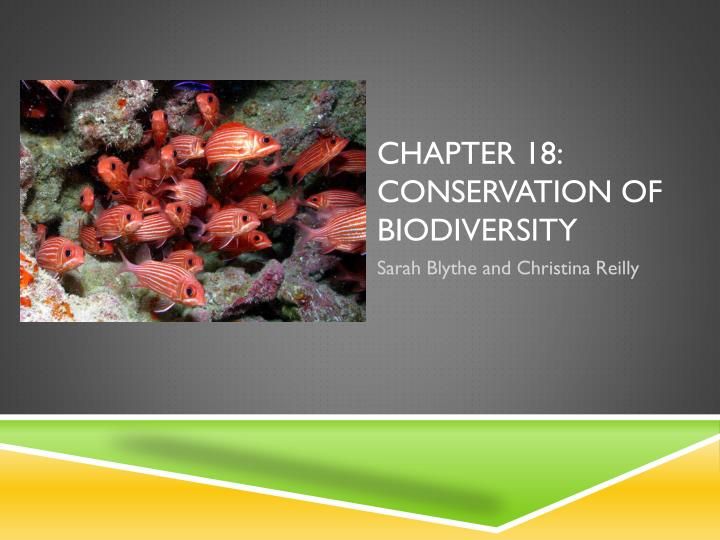 chapter 18 conservation of biodiversity n.