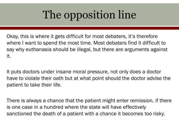 The opposition line