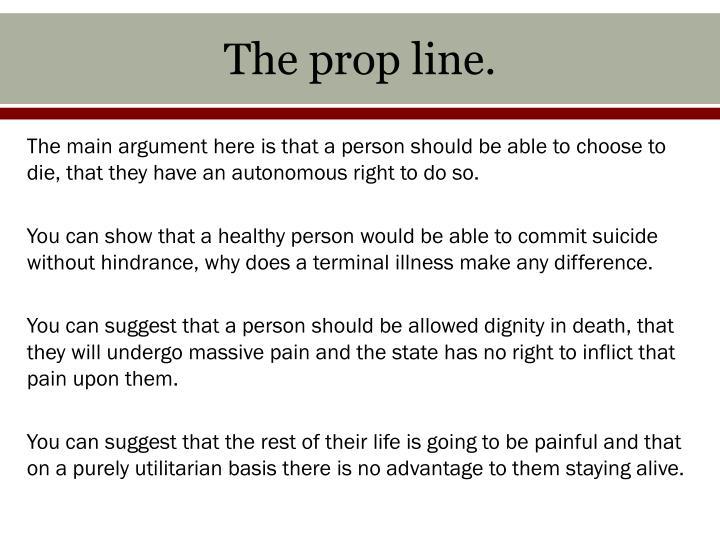 The prop line.