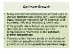 optimum growth