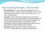basic counting principles the sum rule