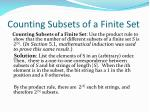 counting subsets of a finite set