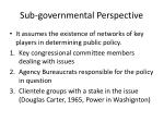 sub governmental perspective