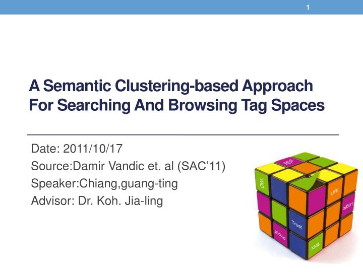 a semantic clustering based approach for searching and browsing tag spaces n.